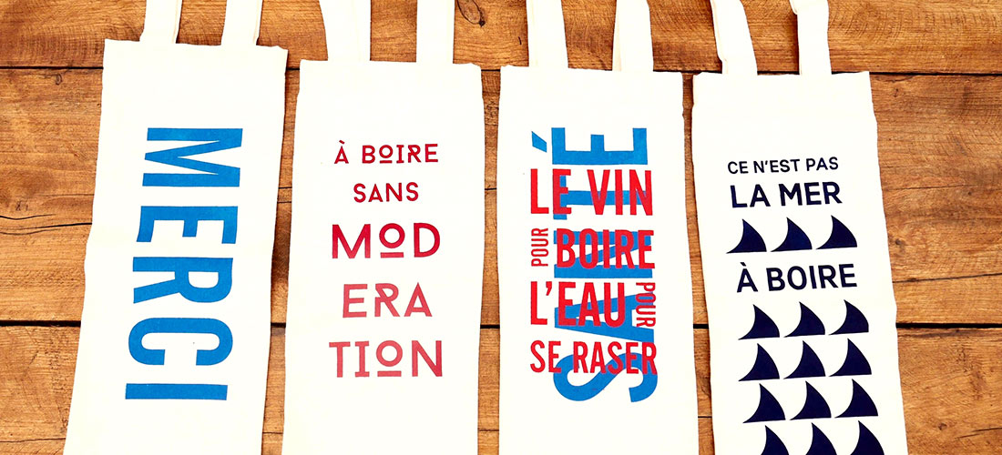 Wine bags in French - Loloprints.com